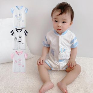 Summer new rabbit balloon open chest baby one-piece clothes wholesale NHTV207598's discount tags