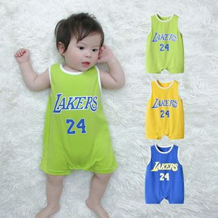 Summer baby sleeveless vest baby basketball uniform baby jumpsuit wholesale NHTV207605's discount tags