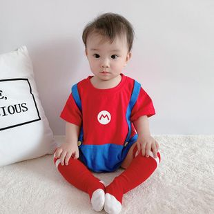 New baby clothes 3-6 months baby cartoon short sleeve thin jumpsuit wholesale NHTV207616's discount tags