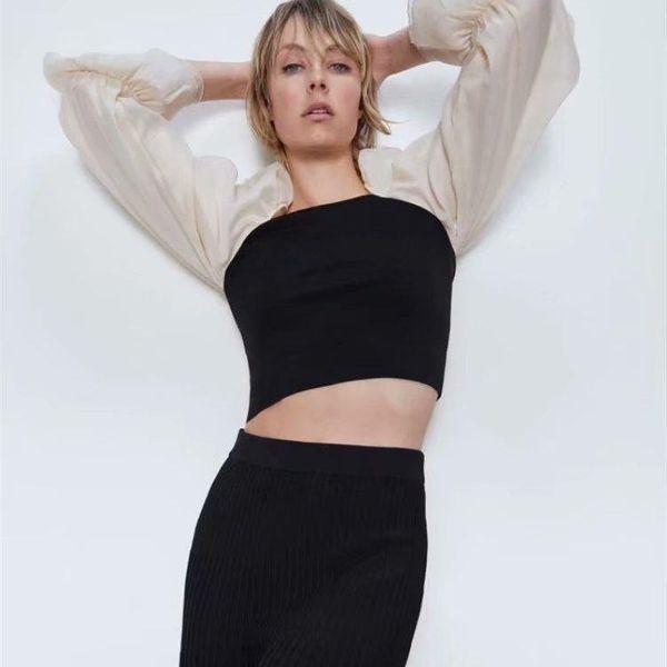 Spring new fashion organza stitching women's sweater T-shirt wholesale NHAM207647