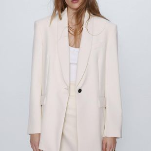 New fashion women's oversized suit jacket loose casual suit wholesale NHAM207663's discount tags