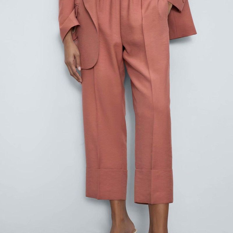 Spring new fashion curling trousers trousers women's suit pants casual pants wholesale NHAM207664
