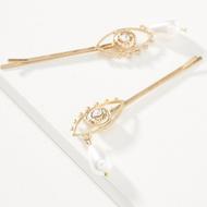 Wholesale YIWU Nihaojewelry Fashion Devil's Eye Alloy Hair Clip NHMD207738