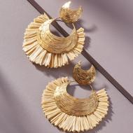 Fashion ethnic style alloy raffia earrings wholesale YIWU Nihaojewelry NHMD207734