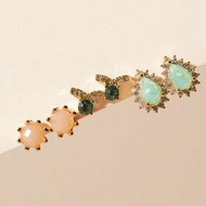 Fashion color earrings three-piece wholesale YIWU nihaojewelry NHMD207731