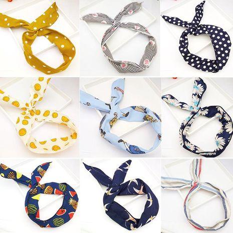 Korean new hair accessories sweet and cute polka dot print smiley bow hair band iron hair band NHDQ207402's discount tags