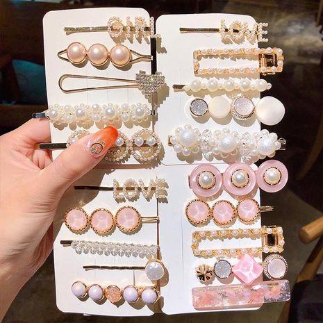 Korean pearl hairpin set cheap hairpin wholesale NHNA207470's discount tags