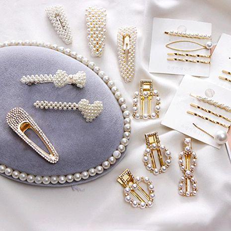 Nueva moda dulce perla horquilla barata al por mayor NHNA207471's discount tags