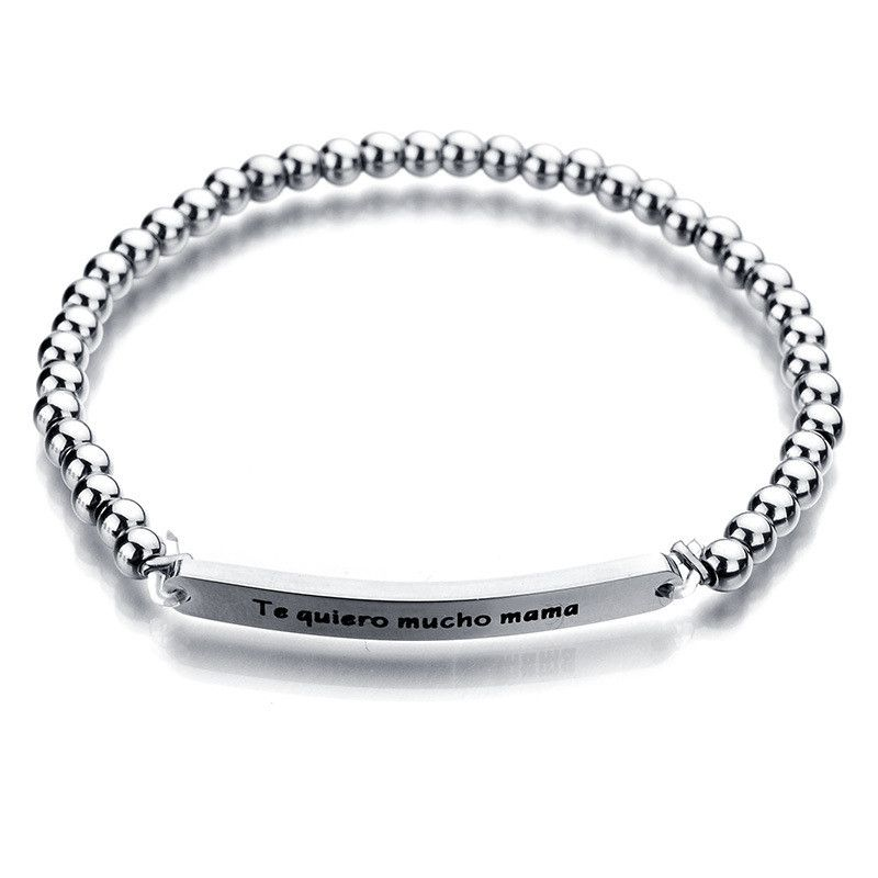 Titanium&Stainless Steel Korea Geometric bracelet  (No words) NHHF0030-No-words