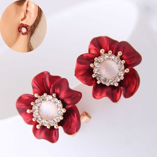 Korean fashion sweet OL rich flower earrings yiwu nihaojewelry wholesale NHSC208667's discount tags