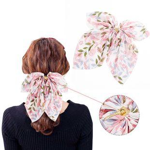 New fashion floral chiffon big bow gold buckle hair plug cheap hairpin wholesale NHDM207740's discount tags