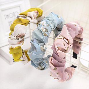 New fashion chiffon headband color folds fashion simple cheap headband wholesale NHDM207745's discount tags