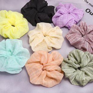 Color mesh yarn lattice hair rope wholesale large intestine circle balls scalp hair tie hair accessories NHDM207748's discount tags