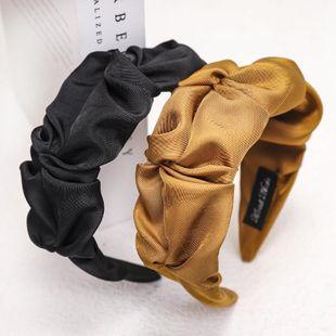 New fashion Korean fold headband cute solid color fabric cheap headband wholesale NHDM207751's discount tags