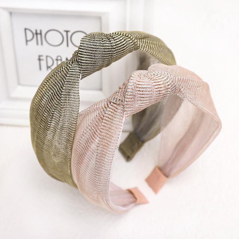 Korean new fashion mesh lace headband sweet cheap headband wholesale NHDM207756