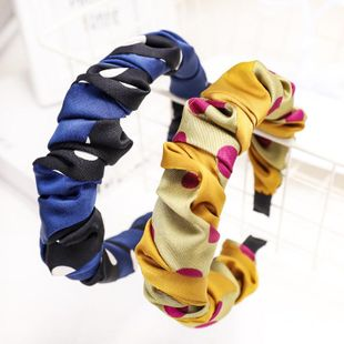 Spring new fashion fold cheap headband wholesale NHDM207760's discount tags