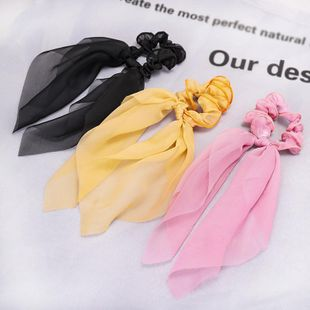 Ribbon bow bowel ring Korean net red lace ponytail hair accessories wholesale NHDM207765's discount tags