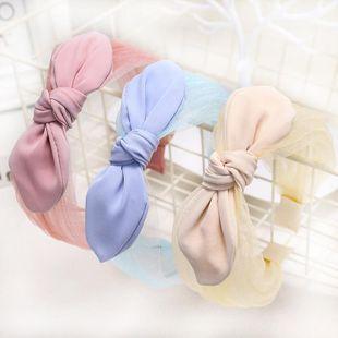 Korean new fashion lace knotted bow tie headband cheap headband wholesale NHDM207766's discount tags