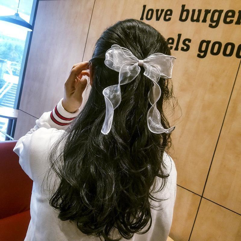 New fashion bow tie rope Korean sweet streamer cheap scrunchies wholesale NHDM207774