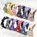 New fashion pearl hair hoop solid color bright silk fabric wild cheap hair hoop wholesale NHDM207784