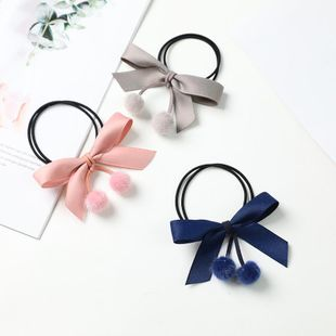 Wholesale of new style fur ball bowknot cheap scrunchies NHDM207789's discount tags