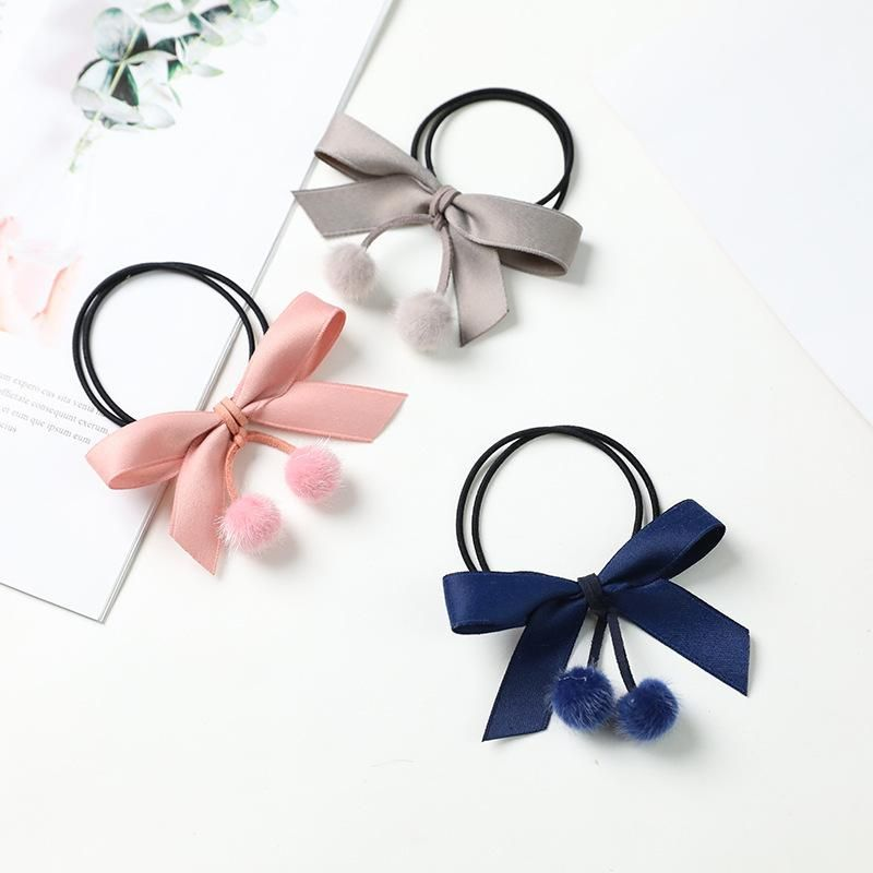 Wholesale of new style fur ball bowknot cheap scrunchies NHDM207789