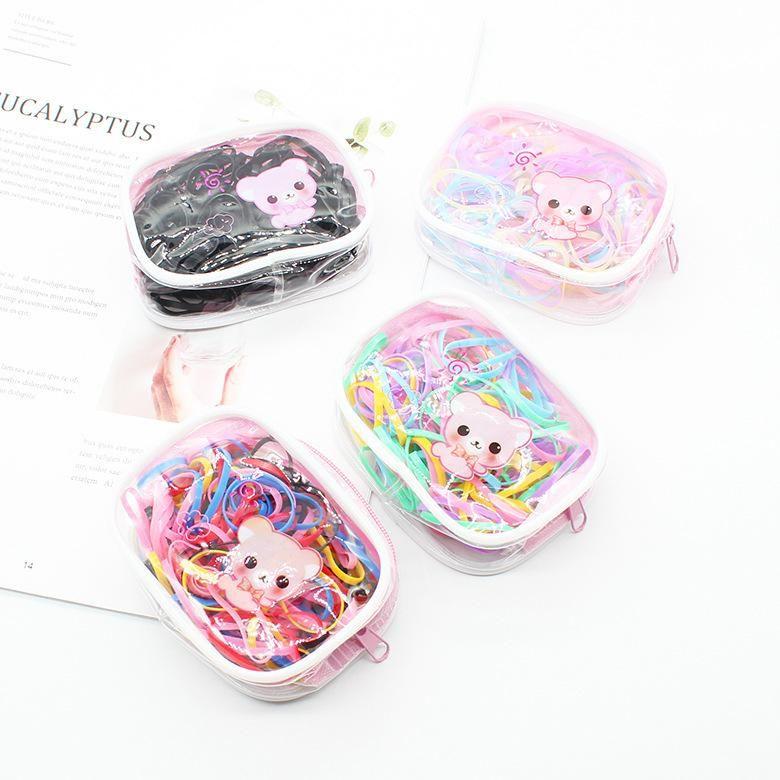 Korean disposable hair ring cartoon children's colorful rubber band rubber band head rope headdress hair accessories NHDM207791