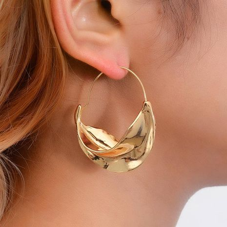 New fashion irregular earrings metal flower basket exaggerated earrings for women wholesale NHMO207796's discount tags