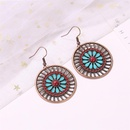 New fashion boho fashion retro flower round hollow earrings for women wholesale NHMO207814