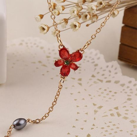 New fashion rose necklace for women wholesale NHMO207856's discount tags