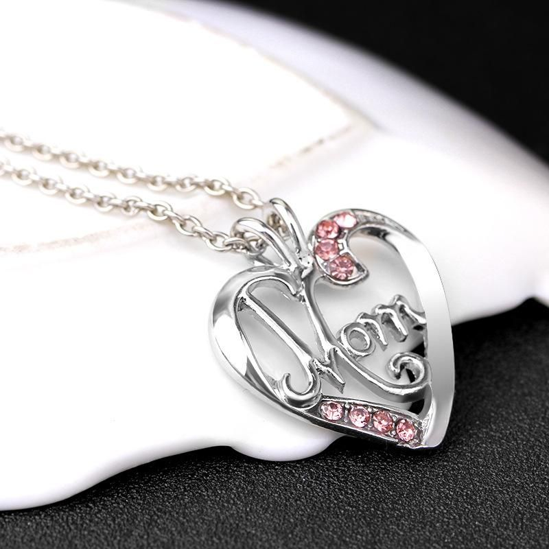New fashion creative mother39s day gift MOM love diamond pendant necklace yiwu nihaojewelry wholesale NHMO207857