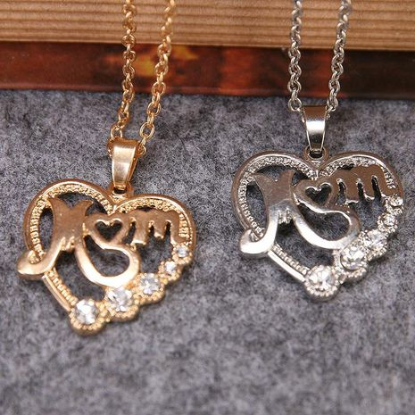 New fashion new mothers day MOM mom love hollow necklace wholesale NHMO207863's discount tags