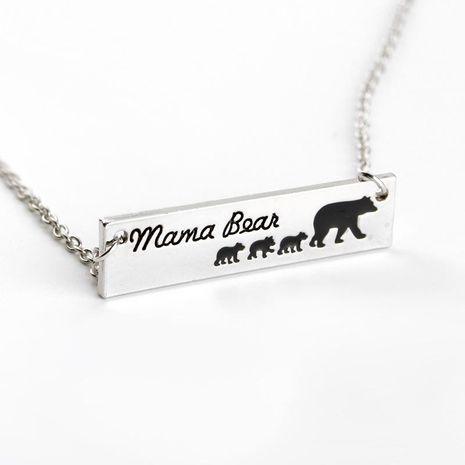 New Fashion Mama Bear Variety Bear Mother's Day Gift Pendant Necklace Wholesale NHMO207868's discount tags