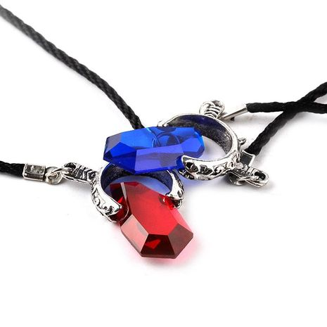 New Fashion Demon Hunter Dante Soul Stone Couple Pendant Necklace Clavicle Chain Wholesale NHMO207875's discount tags