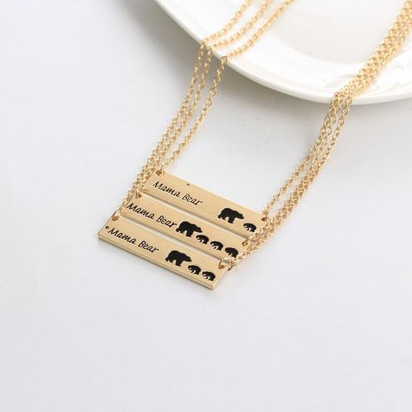 Mother's Day gift new fashion animal bear bear mother necklace family set Mama Bear necklace NHMO207882's discount tags
