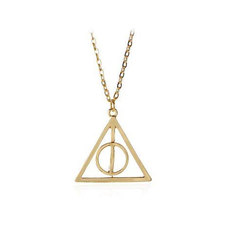 Nouvelle Mode Harry Potter Reliques de la Mort Résurrection Pierre Pendentif Rotatif Triangle Collier NHMO207885's discount tags