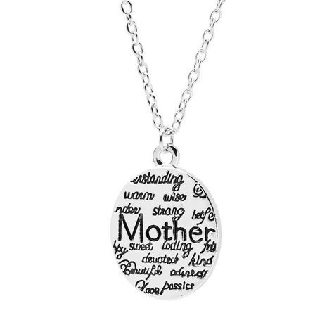 New fashion mother holiday gift mother round letter necklace female clavicle chain wholesale NHMO207910's discount tags