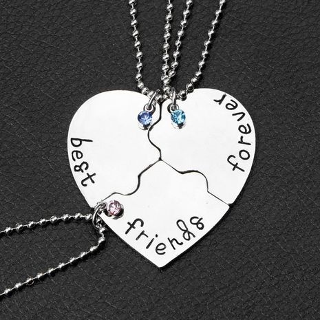 Three-piece Best Friends Forever necklace NHMO207952's discount tags