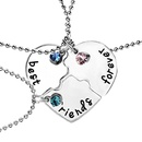 New fashion good friend threepiece Best FriendsForever love accessories necklace NHMO207960