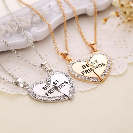 Popular jewelry fashion letters best friends good friends necklaces selling necklaces wholesale NHMO207964's discount tags