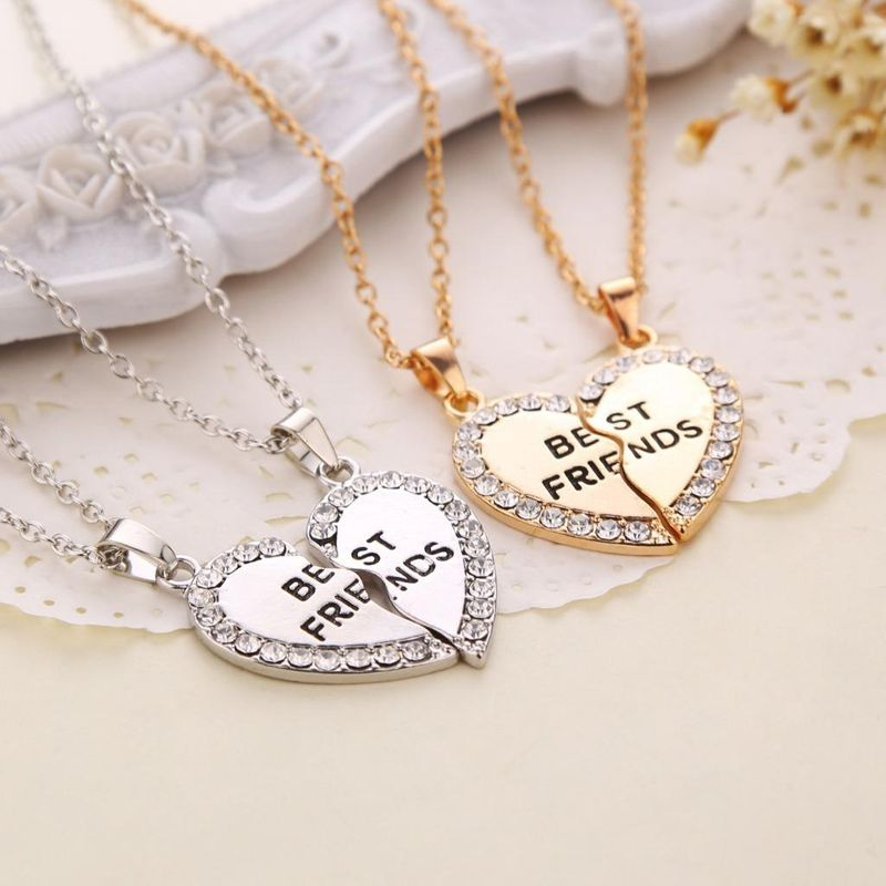 Popular jewelry fashion letters best friends good friends necklaces selling necklaces wholesale NHMO207964