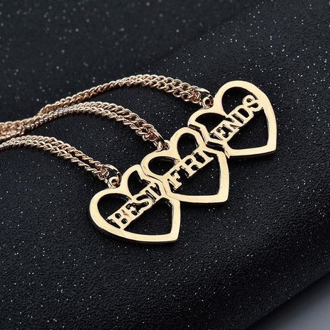 Best Selling Best Friends Heart-shaped Necklace yiwu nihaojewelry Wholesale NHMO207967's discount tags