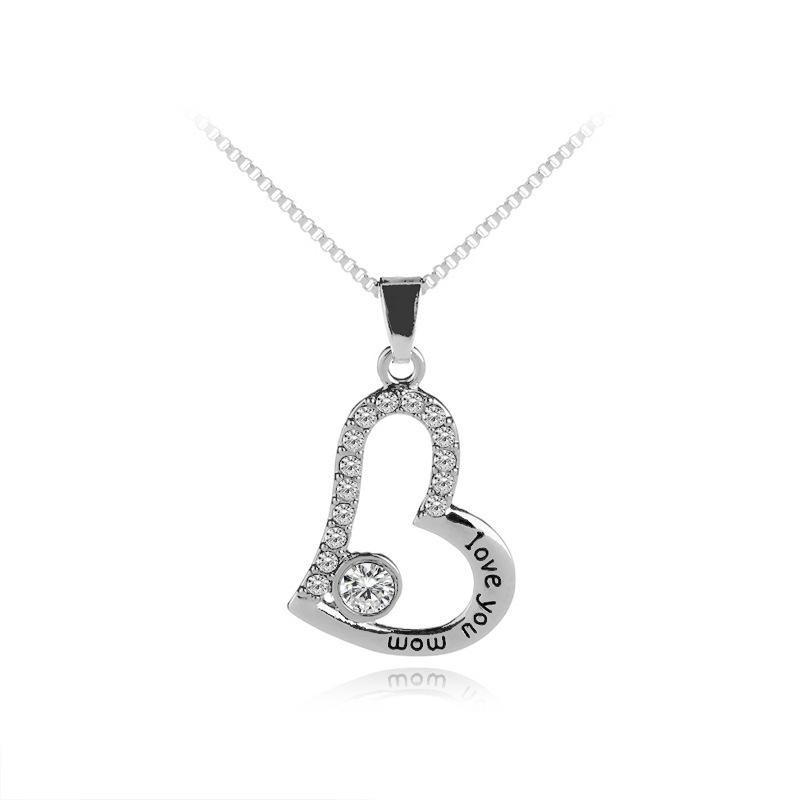Love diamond necklace mother39s day gift love you mom necklace yiwu nihaojewelry wholesale NHMO207971