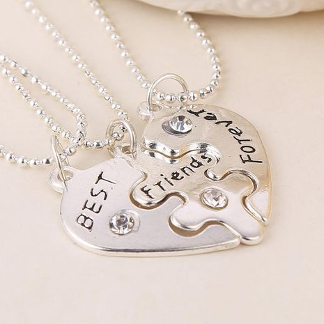 Fashion jewelry good friend love diamond best friends forever stitching necklace wholesale NHMO207973's discount tags