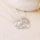 Fashion jewelry good friend love diamond best friends forever stitching necklace wholesale NHMO207973