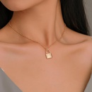 New necklace jewelry simple fashion metal plating lock necklace necklace clavicle chain wholesale NHMO207995