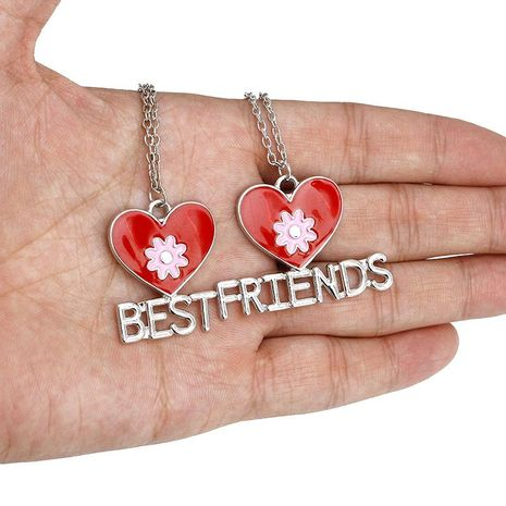 Fashion Friends Best Friends Love Flower Necklace yiwu nihaojewelry Wholesale NHMO208000's discount tags