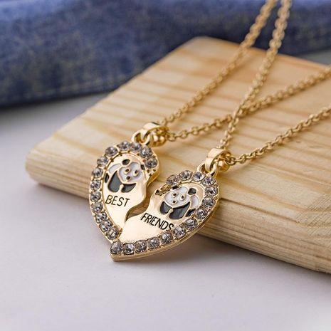 Fashion Hot Best Friends good friend love panda alloy necklace yiwu nihaojewelry wholesale NHMO208001's discount tags
