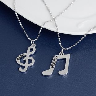 Necklace Best Friends Music Symbol Pendant Necklace Female Clavicle Chain yiwu nihaojewelry Wholesale NHMO208010's discount tags