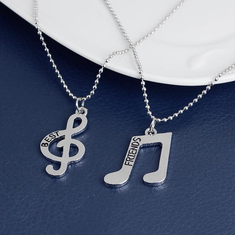 Necklace Best Friends Music Symbol Pendant Necklace Female Clavicle Chain yiwu nihaojewelry Wholesale NHMO208010